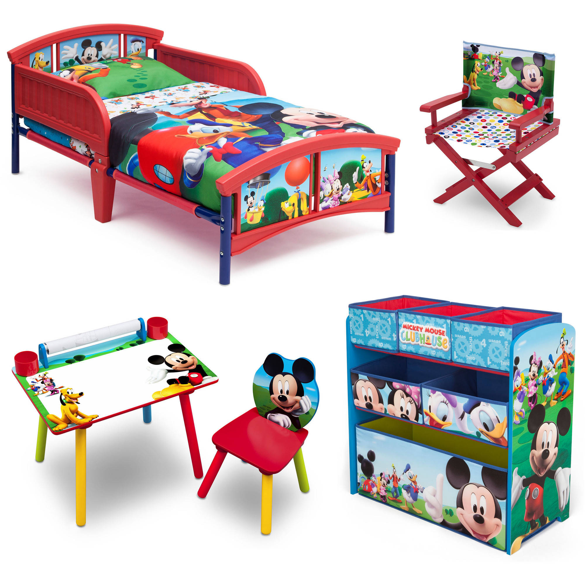 mickey mouse clubhouse chair recliner rocker swivel disney room in a box with bonus walmart com departments