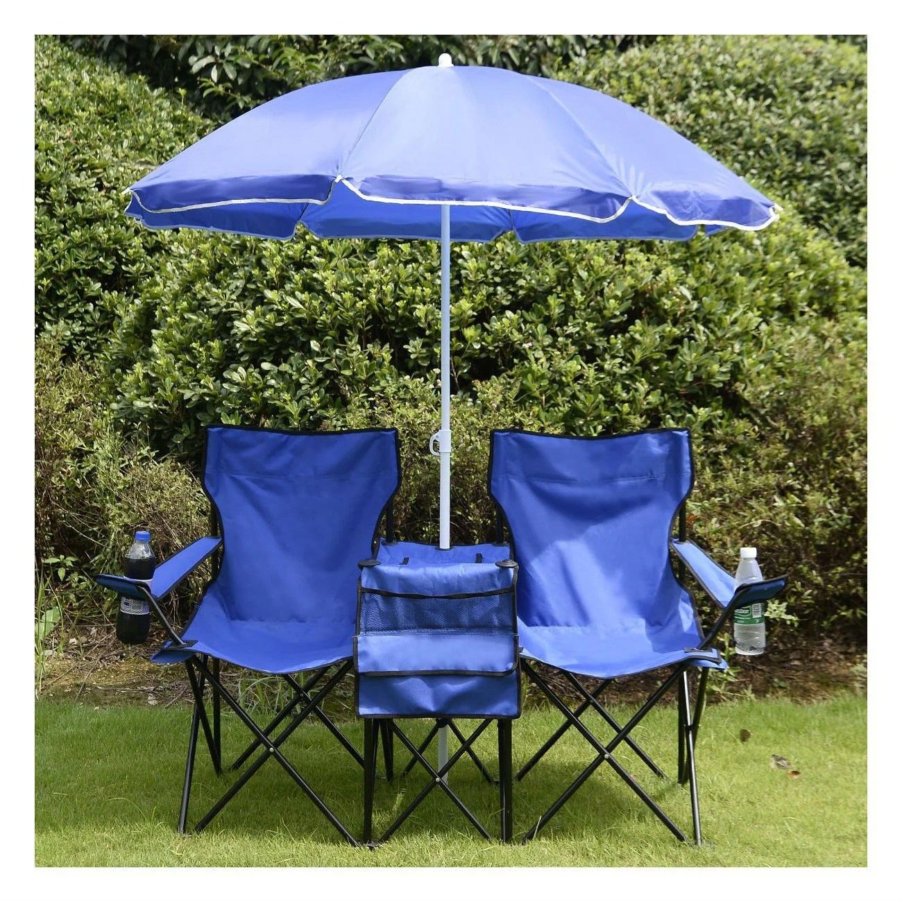 Beach Chairs With Umbrella Beach Chair With Canopy Folding Camping Chairs With Umbrella And Table Cooler Portable Double Chair For Beach Camping