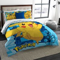 Pokemon Big Pika Twin/Full Bedding Comforter Set - Comes ...