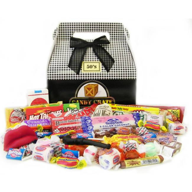 Candy Crate Inc. 1950's Father's Day Retro Candy Gift Box, 2.5 lbs
