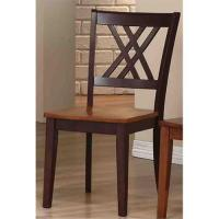 Iconic Furniture Double X-Back Dining Chair Wood Seat ...