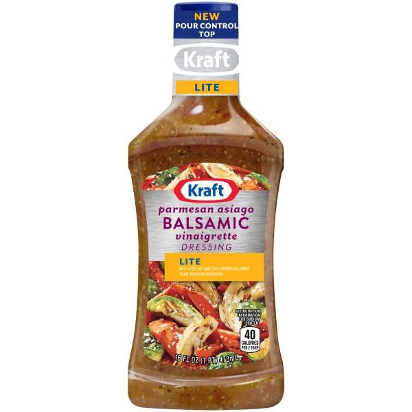Kraft Light Parmesan Asiago Balsamic Vinaigrette Reduced