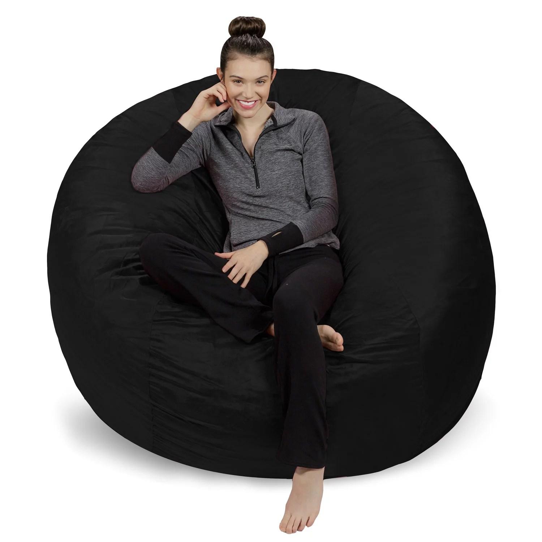 6 foot bean bag chair wedding cover hire cwmbran sofa sack giant ft multiple colors walmart com