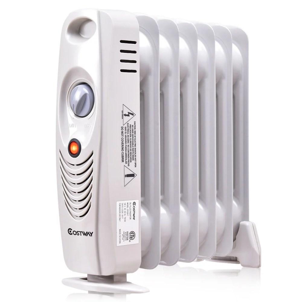 medium resolution of 700w portable mini electric oil filled radiator heater safe walmart com