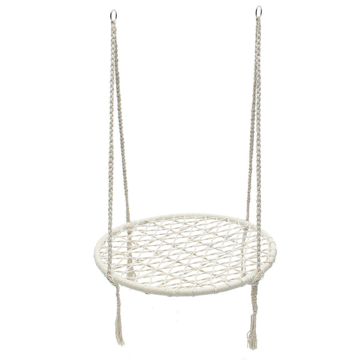 Hanging Rope Hammock Chair Swing Seat Net Chair For Yard Bedroom Patio Porch Indoor Outdoor 220 Pound Capacity