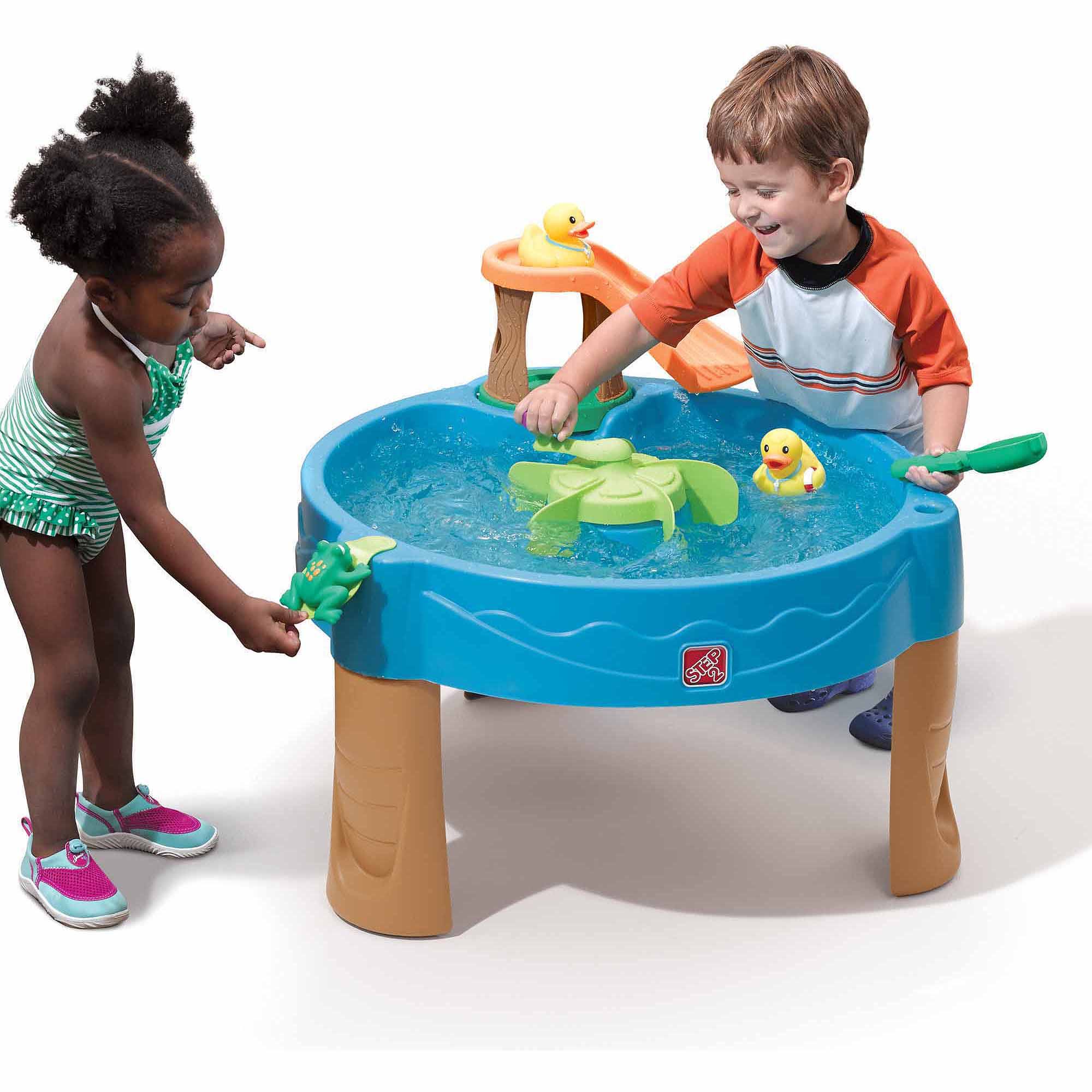 Step2 Duck Pond Water Table With 7 Piece Water Toy Accessory Set Walmart Com Walmart Com