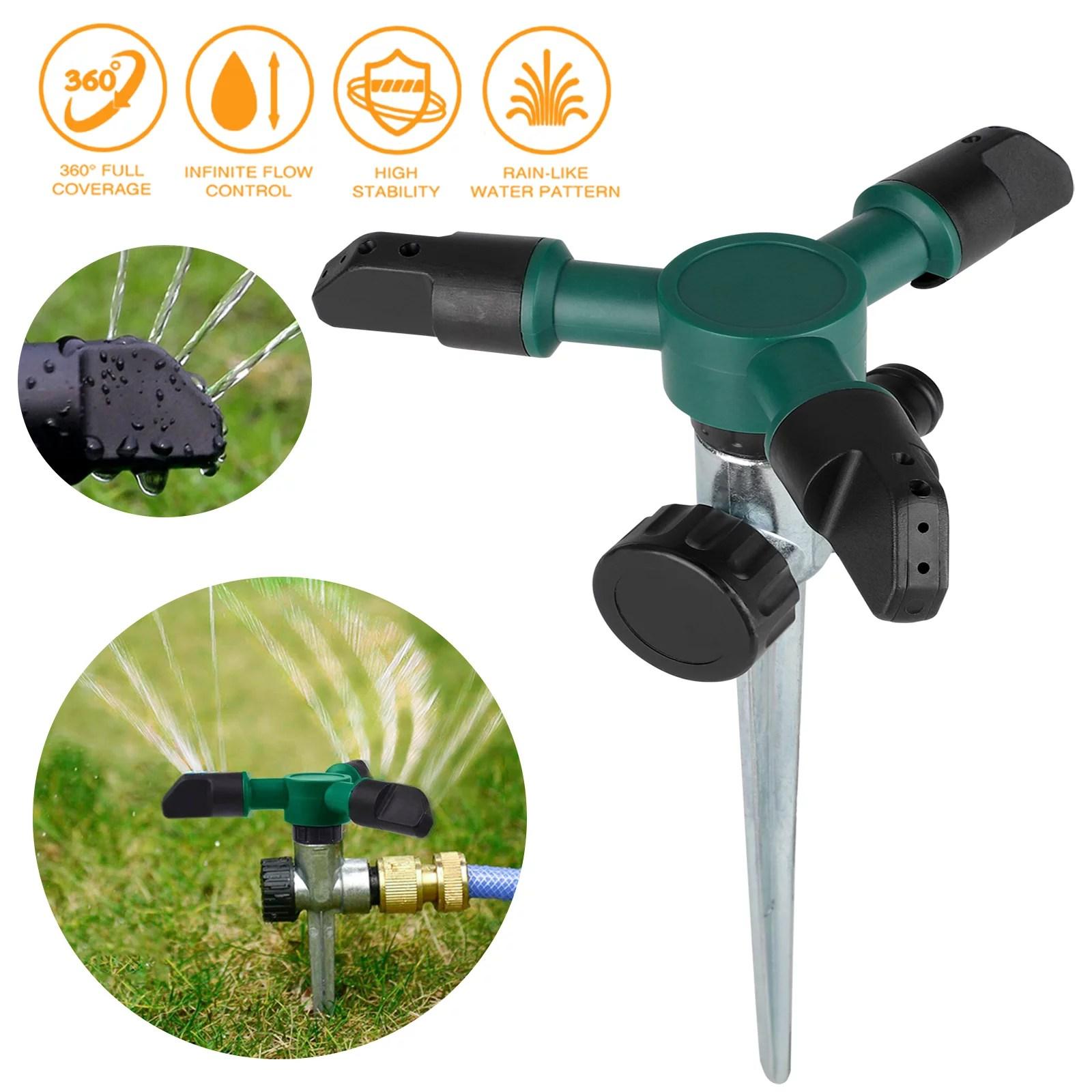 Lawn Sprinkler Automatic 360 Degree Rotating Garden