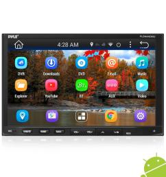 pyle pldnand692 double din android headunit stereo receiver tablet style functionality 7 touchscreen display wi fi web browsing app download  [ 1000 x 1000 Pixel ]