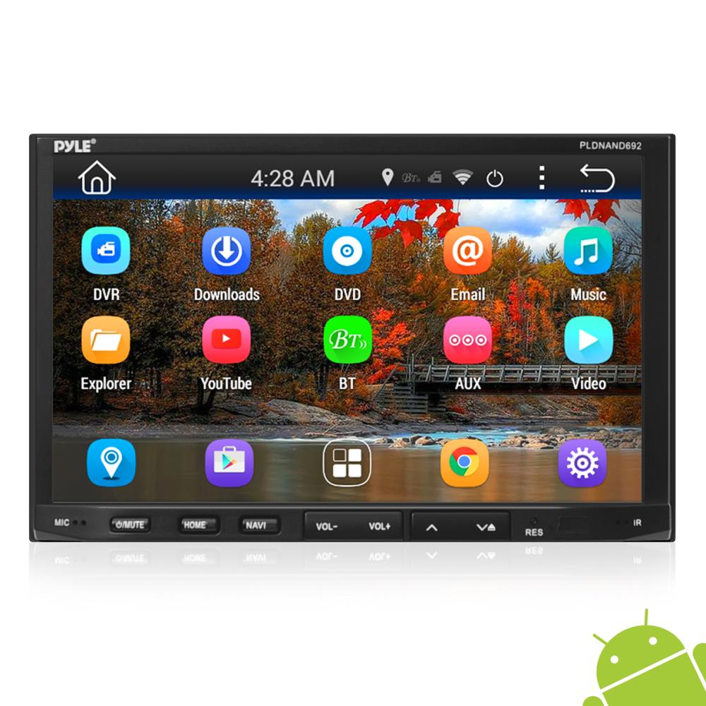 medium resolution of pyle pldnand692 double din android headunit stereo receiver tablet style functionality 7 touchscreen display wi fi web browsing app download