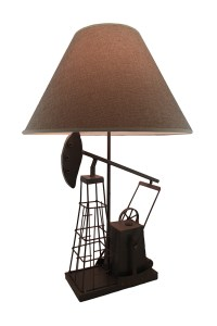 Derrick Drill Rustic Gray Metal Oil Well Table Lamp w ...