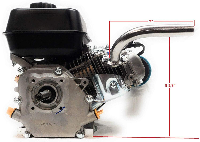 exhaust pipe for predator 212cc honda gx160 gx200 go kart mini bikes