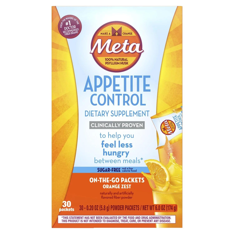 Metamucil Appetite Control Supplement Psyllium Fiber Sugar ...