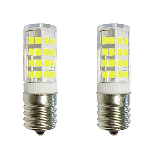 2 bulbs anyray replacement for ge wb36x10003 40w microwave light bulb 40t8 e17 base appliance light bulbs cool white 6000k