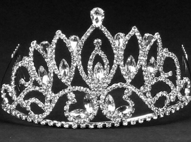 pointed rhinestone tiara sweet