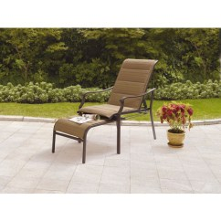 Outdoor Chair And Ottoman Massaging Office Mainstays Padded Sling With Pull Out Brown Tan Departments