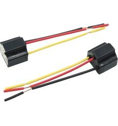 5pcs dc 12v headlight foglight h4 bulb socket plug connector wiring harness [ 2000 x 2000 Pixel ]