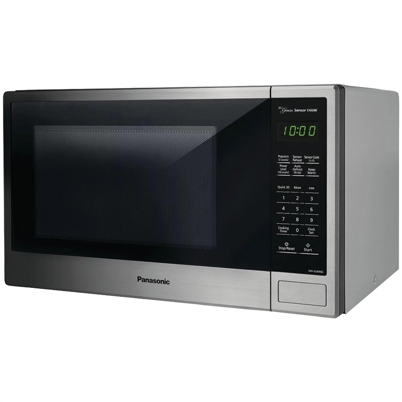 panasonic nn su696s 1 3 cu ft 1100w countertop microwave oven genius sensor stainless steel