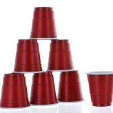 2oz Mini Red Plastic Shot Glasses, 20pk