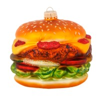 Double Decker Cheeseburger In Paradise Glass Holiday ...