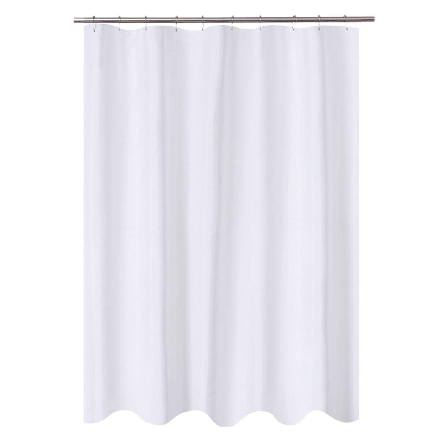 n y home fabric shower curtain liner 60 x 72 inches bath stall size hotel quality washable water repellent white bathroom curtains with grommets