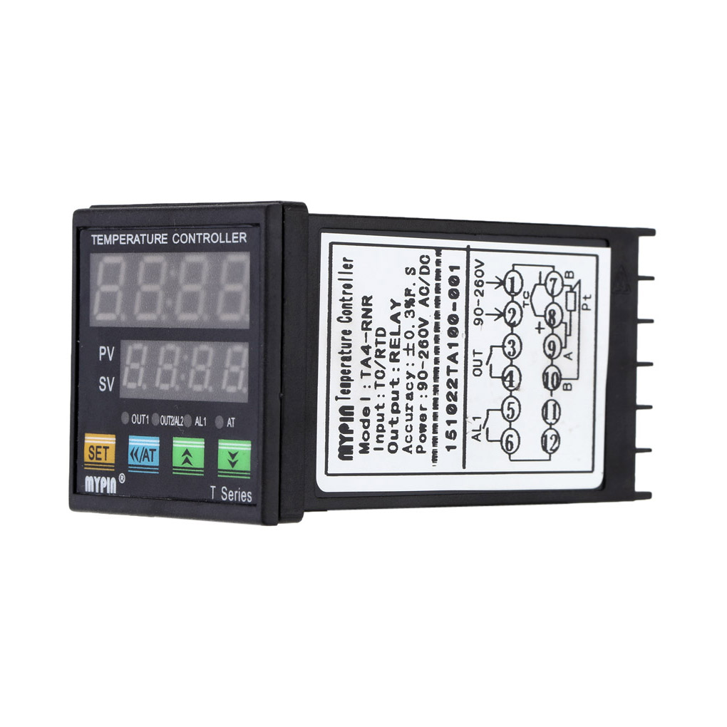 hight resolution of mypin ta4 rnr digital led pid temperature controller thermometer heat cooling control rnr 1 alarm relay output tc rtd thermostat walmart com