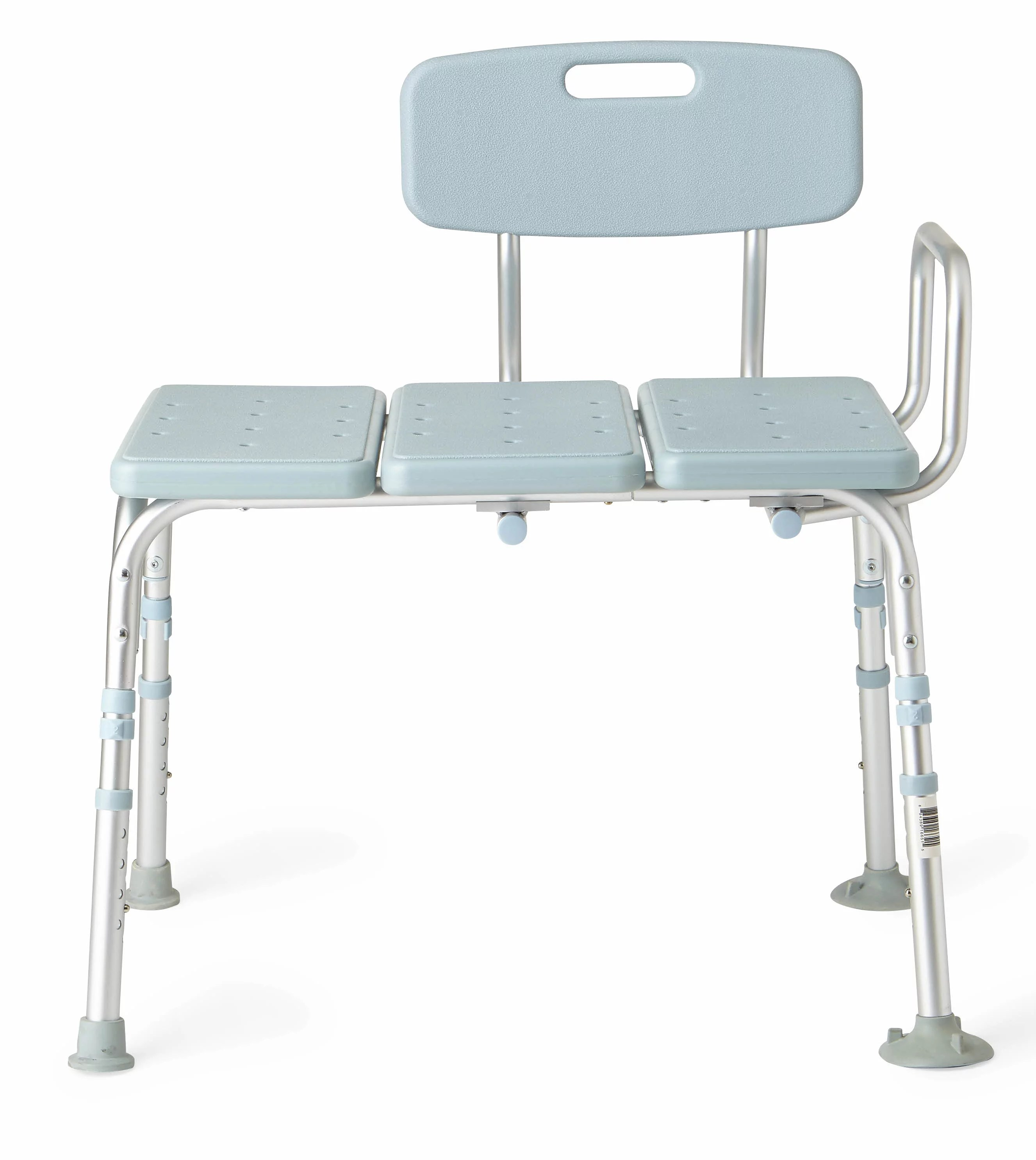 medline tub transfer bench with back microban antimicrobial protection 300lb weight capacity blue seat and chair back