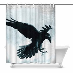 YUSDECOR Gothic Medieval Black Raven Bird in Moonlight Home Decor Waterproof Polyester Bathroom Shower Curtain Bath Decorations 66x72 inch Walmart Canada