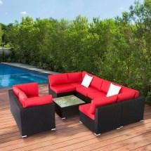 kinbor 9pcs outdoor patio furniture