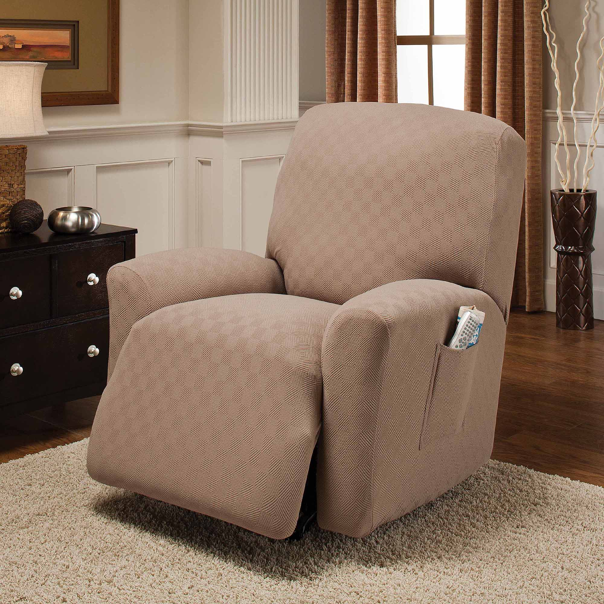 Large Chair Slipcovers Jersey Stretch Large Recliner Slipcover Walmart