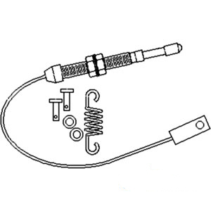 3762119M91 New Massey Ferguson Tractor Throttle Cable 396