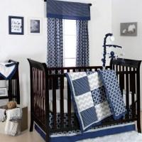 The Peanut Shell 4 Piece Baby Boy Crib Bedding Set - Navy ...