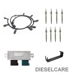 6 0l ford 2004 5 2010 diesel glow plug harness 8 glow plugs relay and harness removal tool walmart com [ 1000 x 1000 Pixel ]
