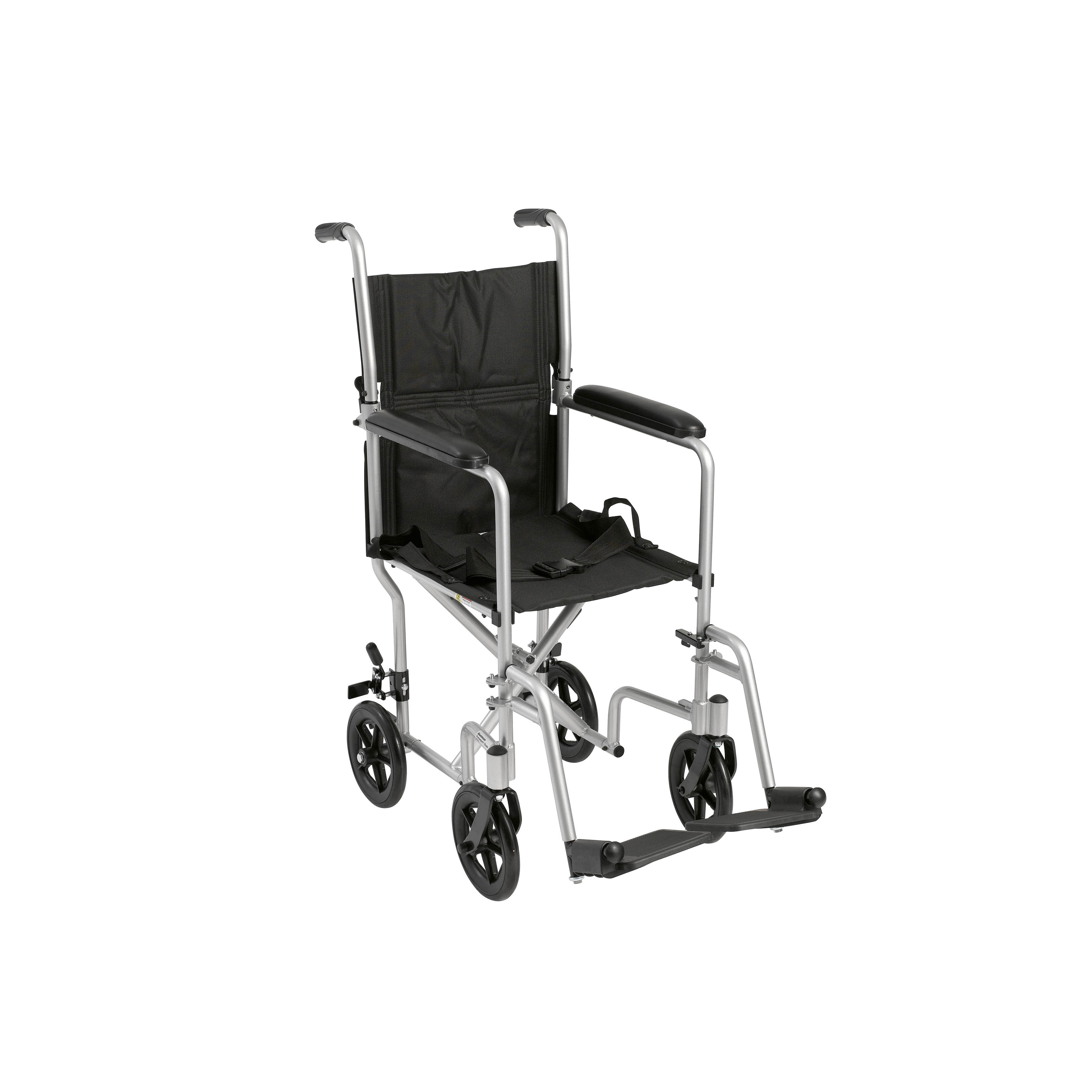 transport wheel chair barber shop chairs for sale used drive medical lightweight wheelchair 17 seat silver walmart com