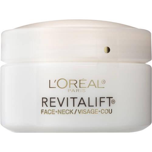 L'Oreal Paris RevitaLift Anti-Wrinkle & Firming Face & Neck Moisturizer, 1.7 Oz