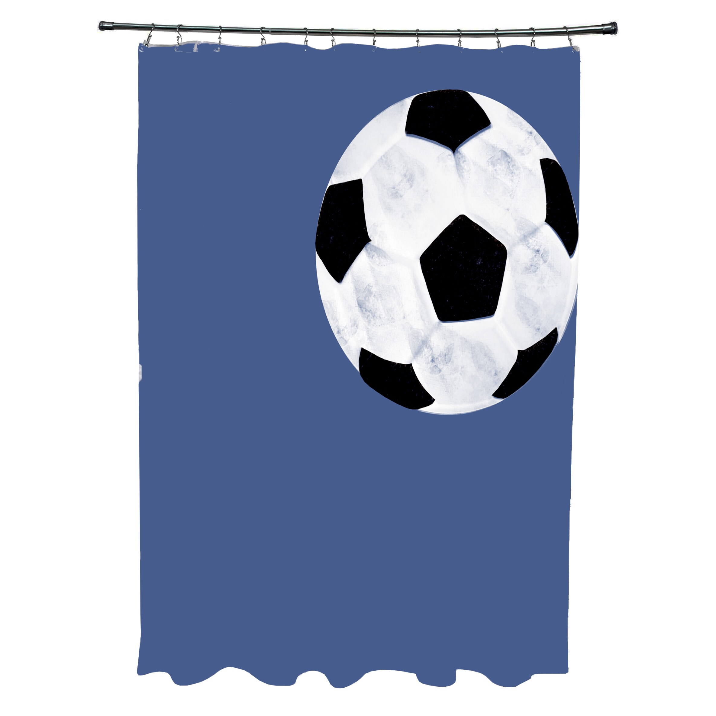 soccer ball geometric print shower curtain