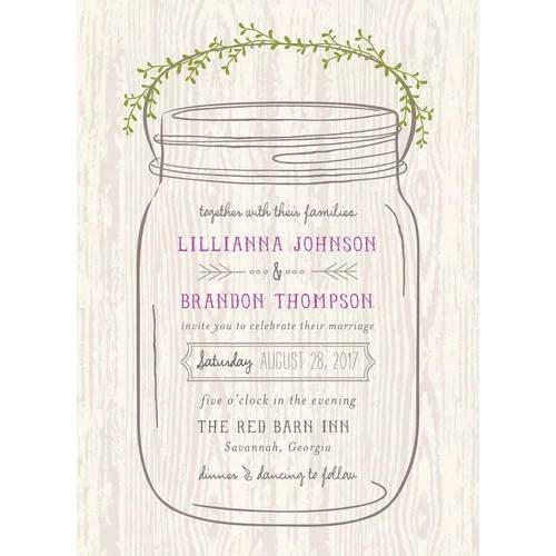 mason jar standard wedding