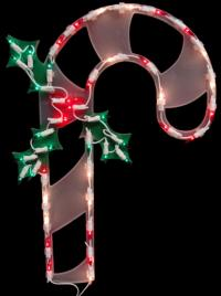 "18"" Lighted Candy Cane Christmas Window Silhouette ..."