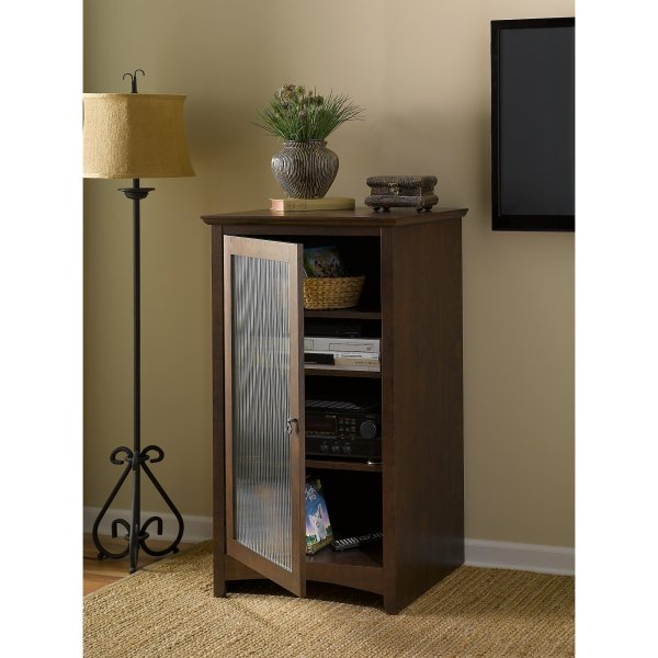 Bush Furniture Buena Vista Media Cabinet In Madison Cherry