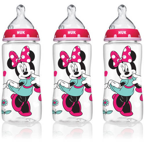 NUK 62048 Disney Baby Bottle with Perfect Fit Nipple, 10