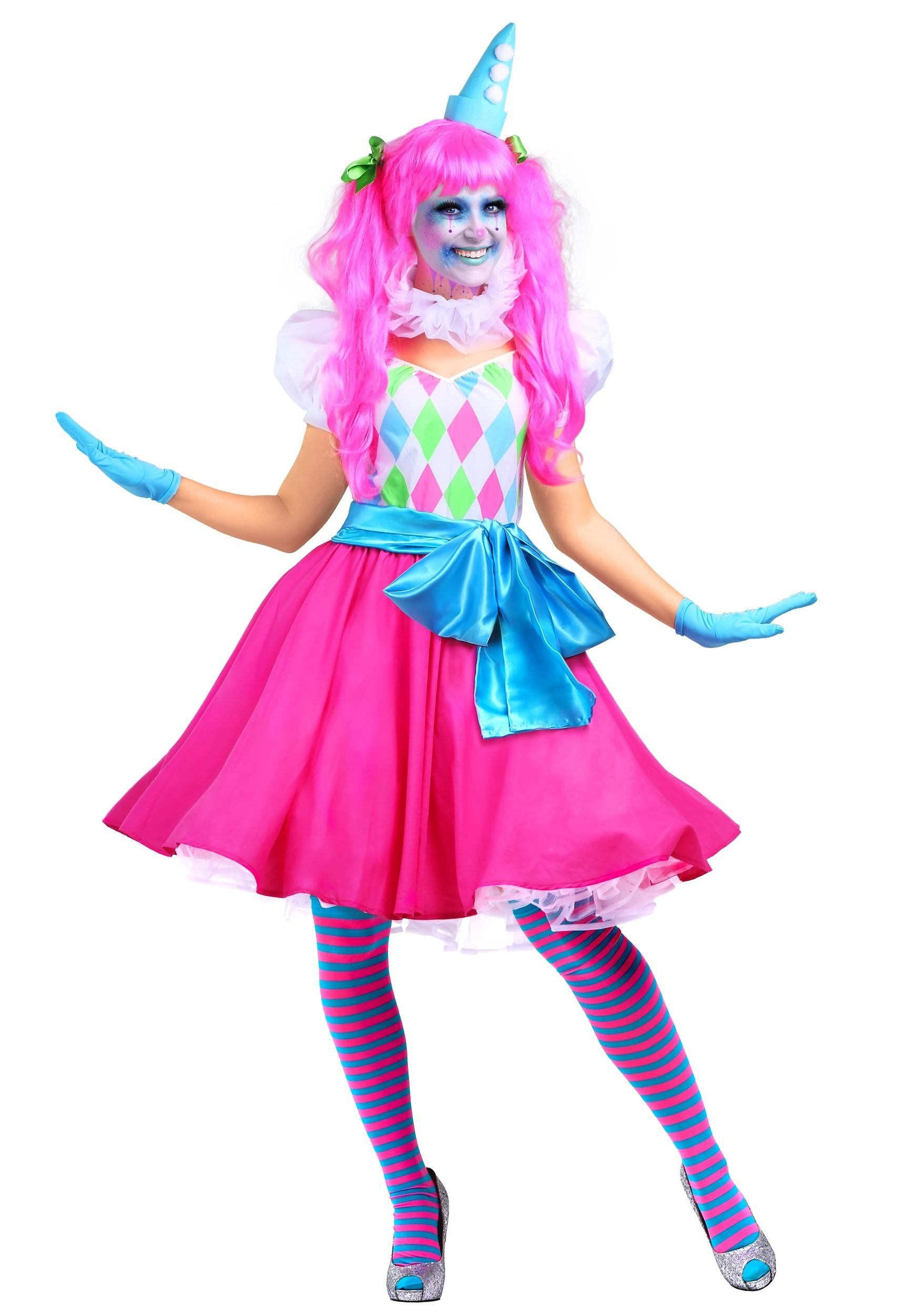 cotton candy clown womens