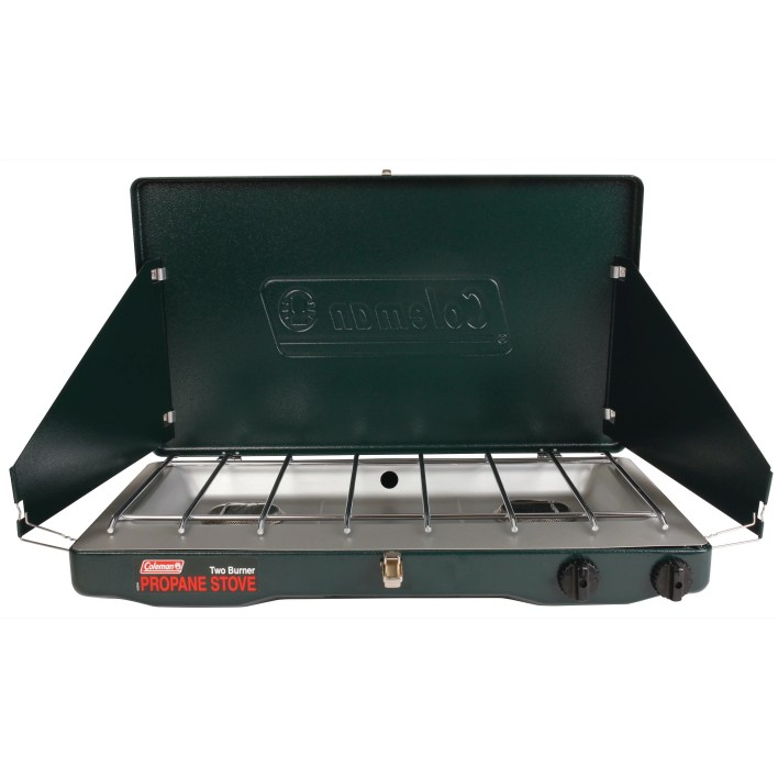Cheap Camping Equipment While In A Budget-coleman Classic propane stove is great not only for camping but for backyard parties as well.