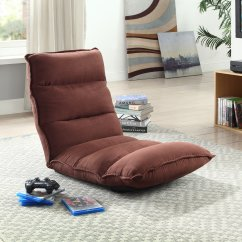 Gaming Lounge Chair Stand Norms Tyson Modern Adjustable Customizable Fabric Chaise Brown