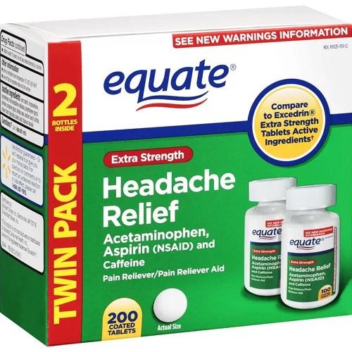 Equate Extra-Strength Headache Relief Tablets ...