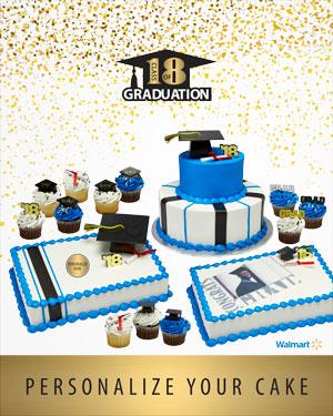 Walmart Personalized Cakes : walmart, personalized, cakes, Choose, Perfect, Graduation, Walmart.com