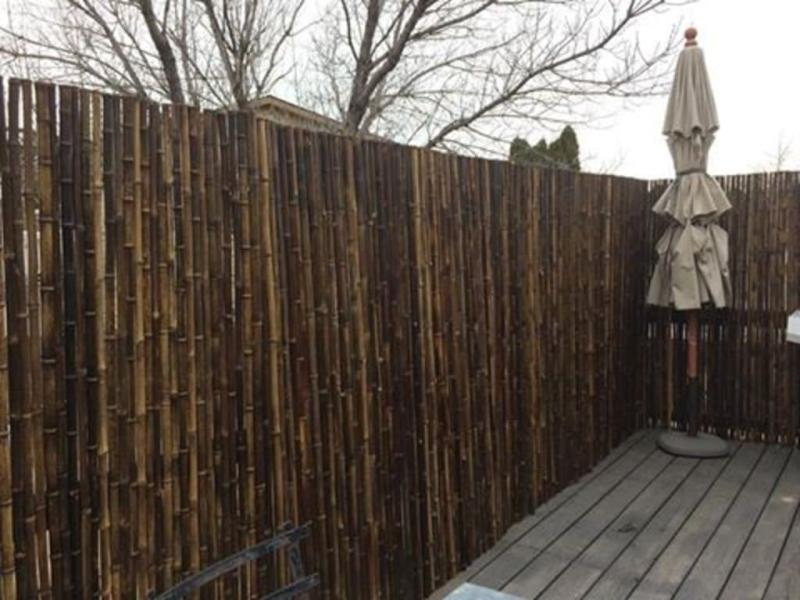 backyard x scapes bamboo fencing natural black