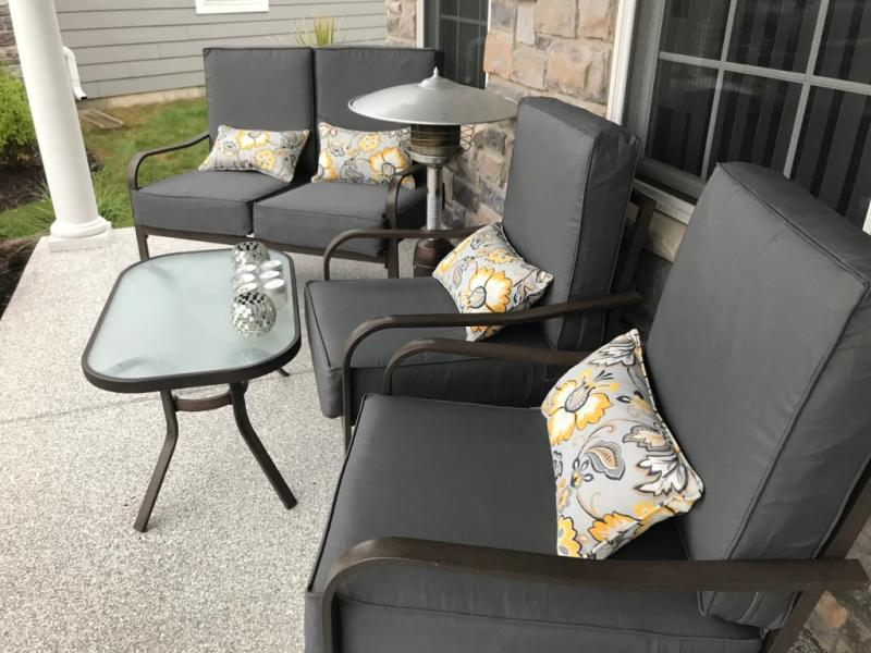 classic accessories montlake fadesafe water resistant patio lounge back cushion 21 x 20 x 4 inch light charcoal