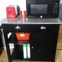 Granite Top Kitchen Cart Modular Outdoor Kitchens Lowes Better Homes Gardens Black Walmart Com