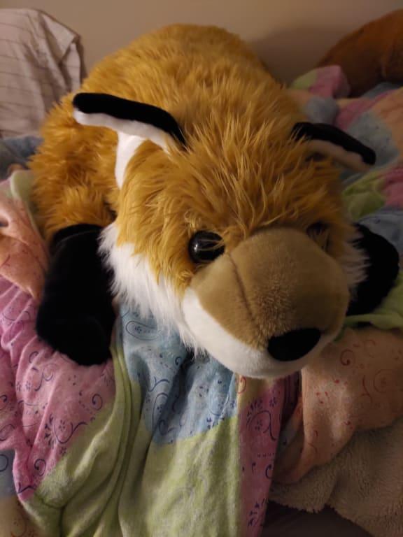 fuzzy fox oversized body pillow