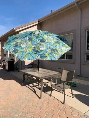 mainstays 9 outdoor tilt market patio umbrella aqua
