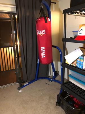 You Help Someone With A Heavy Bag.they Say Thank You And You Reply : someone, heavy, bag.they, thank, reply, Everlast, Single-Station, Heavy, Stand,, Black, Walmart.com